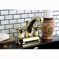 Homestead Polished Brass 4-inch Centerset Bathroom Faucet