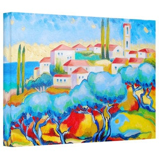 Susi Franco 'Greece by the Sea' Gallery-Wrapped Canvas
