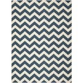 Safavieh Chevron-Patterned Indoor/Outdoor Courtyard Navy/Beige Rug (8' x 11')