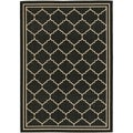 Safavieh Indoor/ Outdoor Courtyard Black/ Cream Rug (9' x 12')