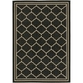Safavieh Indoor/ Outdoor Courtyard Black/ Cream Rug (8' x 11')