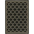 Safavieh Indoor/ Outdoor Courtyard Black/ Cream Rug (4' x 5'7)