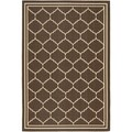 "Safavieh Indoor/Outdoor Courtyard Chocolate/Cream Area Rug (4' x 5'7"")"
