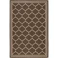 Safavieh Indoor/Outdoor Courtyard Chocolate/Cream Area Rug (4' x 5'7