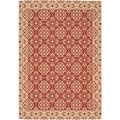 Safavieh Indoor/ Outdoor Courtyard Red/ Cream Rug (2'3 x 6'7)
