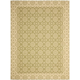 Safavieh Indoor/ Outdoor Courtyard Green/ Cream Rug (9' x 12')