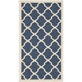 Safavieh Indoor/Outdoor Courtyard Abstract Navy/Beige Rug (2' x 3'7)