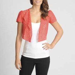 Lennie for Nina Leonard Women's Crochet Shrug