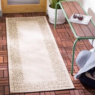 Safavieh Indoor/ Outdoor Courtyard Natural/ Brown Rug (2'4 x 12')