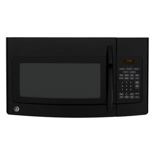 GE Spacemaker 1.7 Cubic Foot Over-the-Range Black Modern Microwave Oven