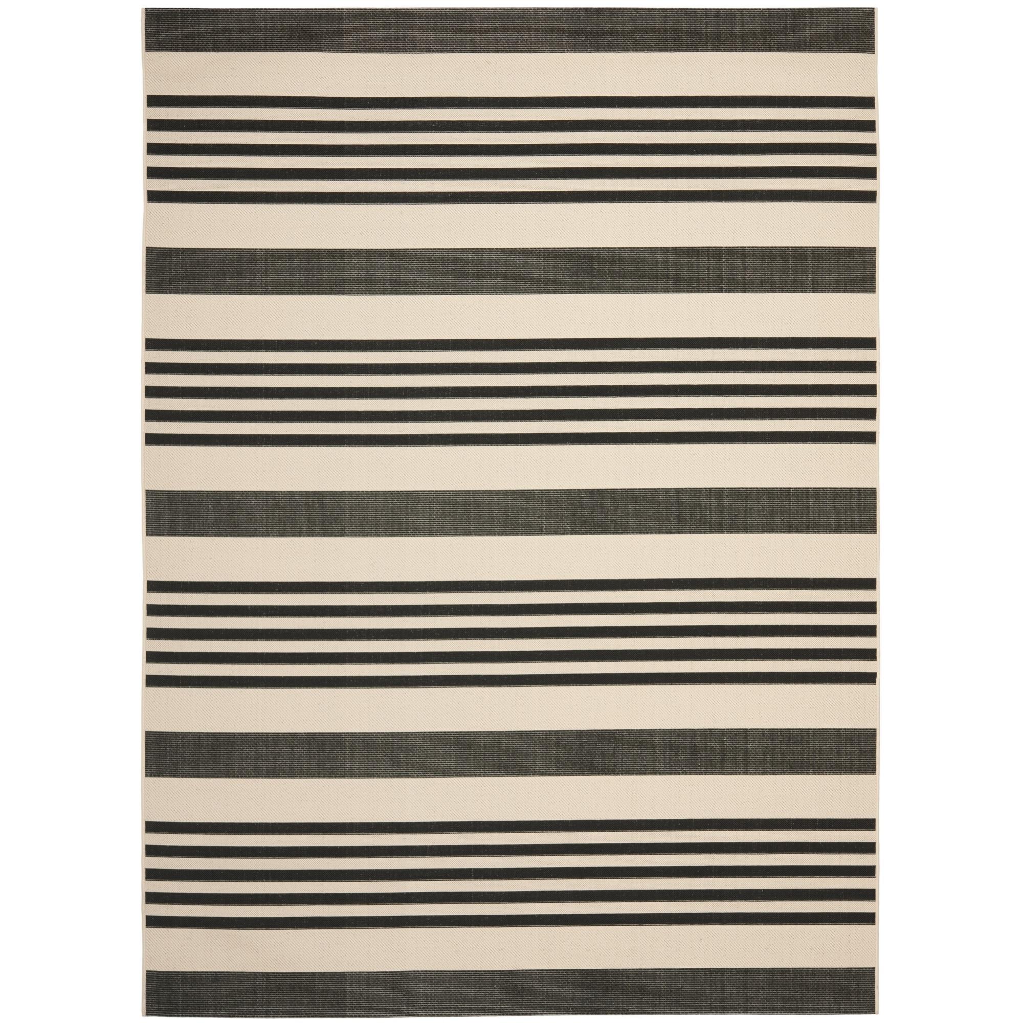 Safavieh Indoor/ Outdoor Courtyard Black/ Bone Rug (9' x 12') at Sears.com