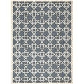 Contemporary Safavieh Indoor/Outdoor Courtyard Navy/Beige Rug (8' x 11')