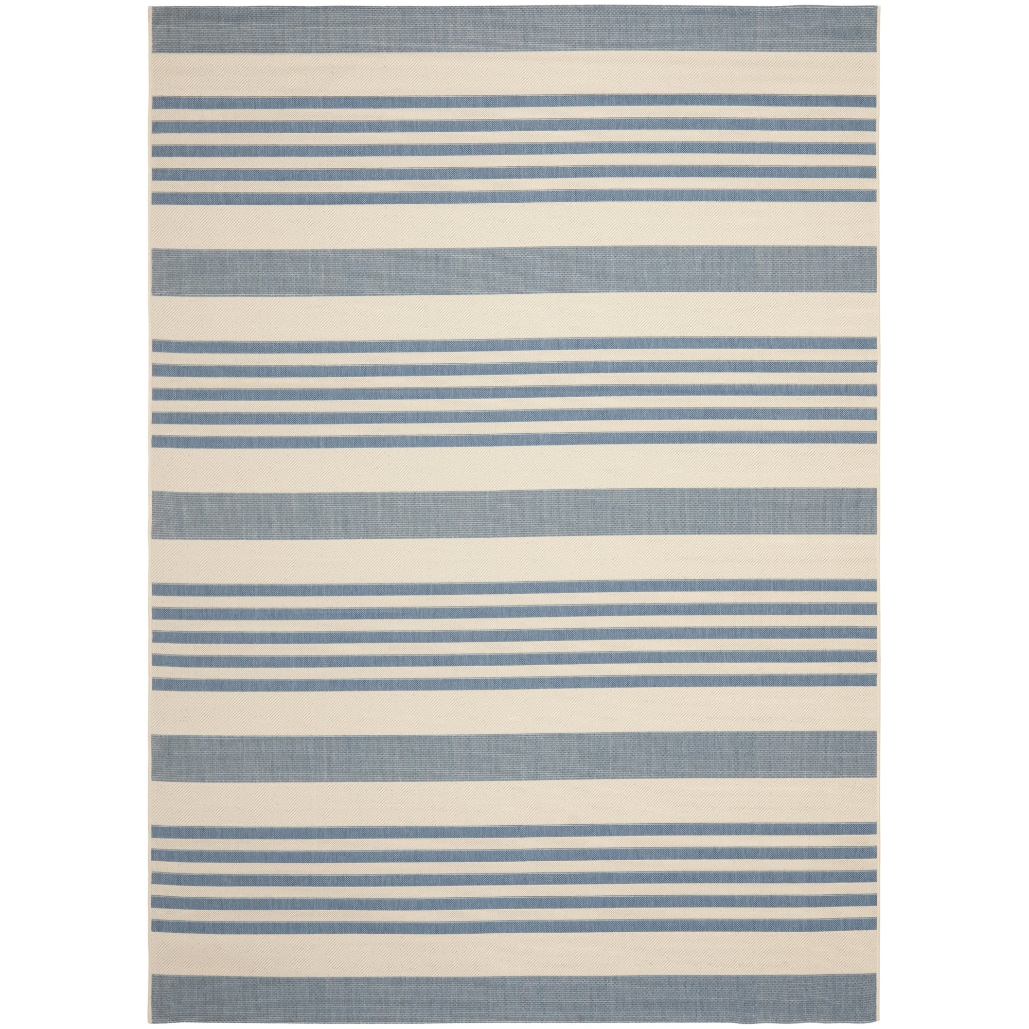 Safavieh Indoor/ Outdoor Courtyard Beige/ Blue Area Rug (9' x 12')