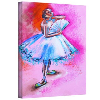 Susi Franco 'Interpretation of Ballerina with Fan by Degas' Gallery-Wrapped Canvas