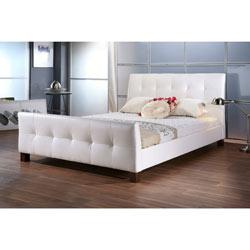 Baxton Studio Amara White Modern Bed