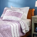 Purple Chenille Stripe 3-piece Quilt Set