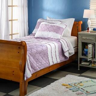 Purple Chenille Stripe 3-piece Quilt Set