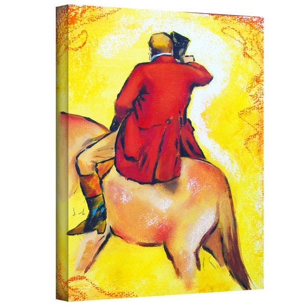 Susi Franco 'Interpretation of The Horseman by Edgar Degas' Gallery-Wrapped Canvas