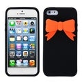 BasAcc Black Bow Silicone Case for Apple iPhone 5
