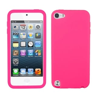 Insten Pink Soft Silicone Skin Rubber Case Cover For Apple iPod Touch 5th/ 6th Gen