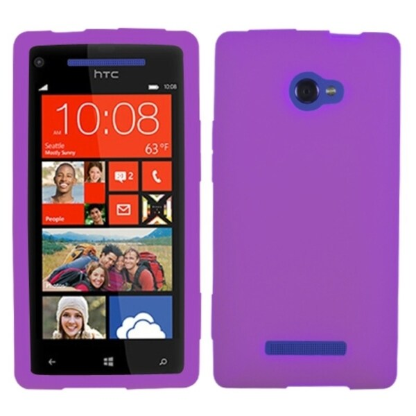 INSTEN Electric Purple Phone Case Cover for HTC Windows Phone 8X