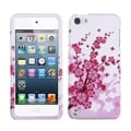 Insten White/ Pink Spring Flowers Hard Snap-on Case Cover For Apple iPod Touch 5th/ 6th Gen