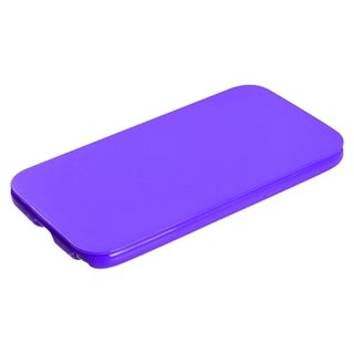 INSTEN Purple Folio Candy Phone Case Cover for Samsung Galaxy Note II T889/ I605