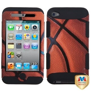BasAcc Basketball/ Black Sports Collection Apple iPod Touch 4 Dual Layer TUFF Hybrid Case