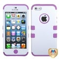 BasAcc Ivory White/ Purple TUFF Hybrid Case for Apple iPhone 5