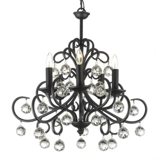 Gallery 'Gallery Versailles' Crystal Balls Wrought Iron Chandelier