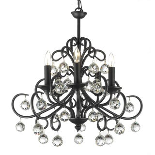 'Gallery Versailles' Crystal Balls Wrought Iron Chandelier