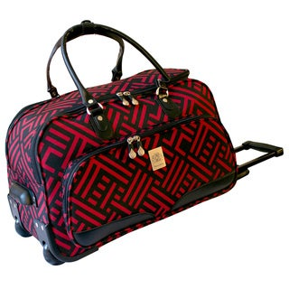 Jenni Chan Signature 20-inch Carry-on Wheeled Upright Duffel Bag