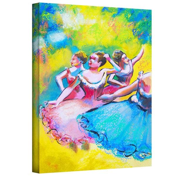 Susi Franco 'Interpretation of Three Ballerinas by Edgar Degas' Gallery-Wrapped Canvas