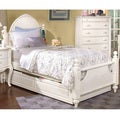 Cheryl Antique White Twin-size Post Bed