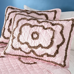 Brown Chenille Circle 3-piece Quilt Set