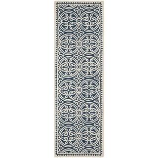 Safavieh Handmade Cambridge Moroccan Navy Blue/ Ivory Rug (2'6 x 18')