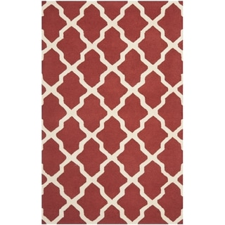 Safavieh Handmade Moroccan Cambridge Rust/ Ivory Wool Rug (8' x 10')