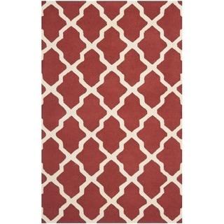 Safavieh Handmade Moroccan Cambridge Rust/ Ivory Wool Rug (8' x 10')