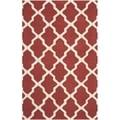 Safavieh Handmade Moroccan Cambridge Rust/ Ivory Wool Rug (10' x 14')