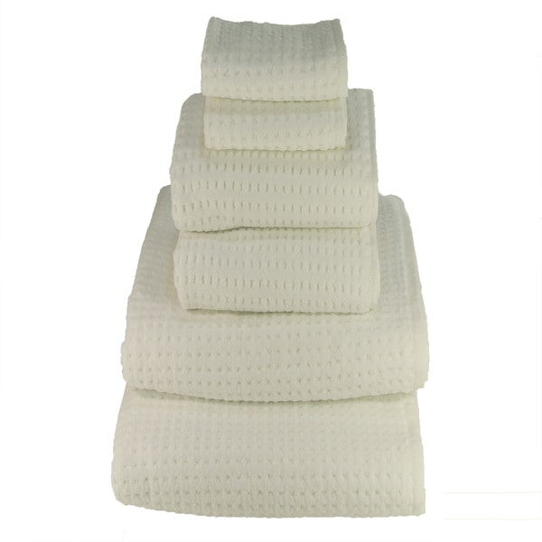 White 700-gram Cotton 6-piece Towel Set