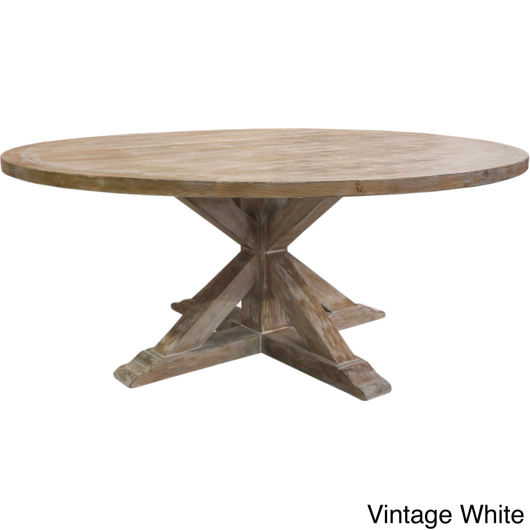 1Cheap La Phillippe Reclaimed Wood Round Dining Table