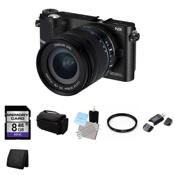 Samsung NX210 20.3MP Mirrorless Black Digital Camera with 18-55mm Lens Bundle