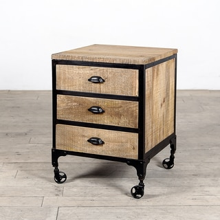 Jean 3-Drawer Natural Mango Wood Chest (India)