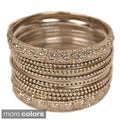 Set of 13 Metal Bangles (India)