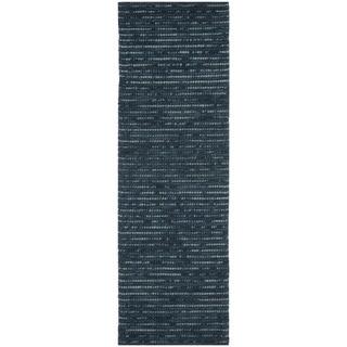 Safavieh Hand-knotted Bohemian Dark Blue Wool Rug (2'6 x 6')