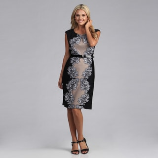 Connected Apparel Placement Print Belted Dress