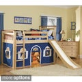'Bennington' Low-loft Twin Bed with Bottom Curtain and Slide