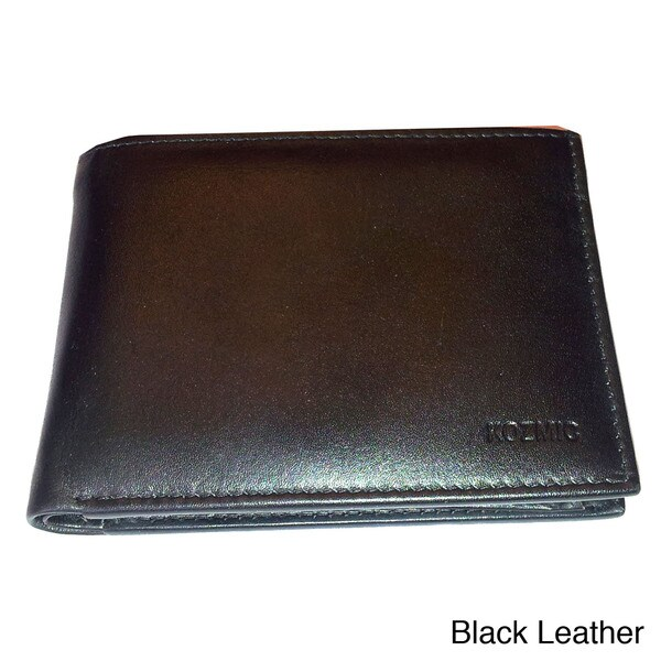 Kozmic Solid Leather Bi-Fold Wallet