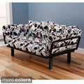 Eli Spacely Multi-Flex Black Metal Daybed Lounger with Mattress and Pilllow Set
