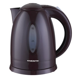 Ovente Brown 1.7-liter Cord-free Electric Kettle